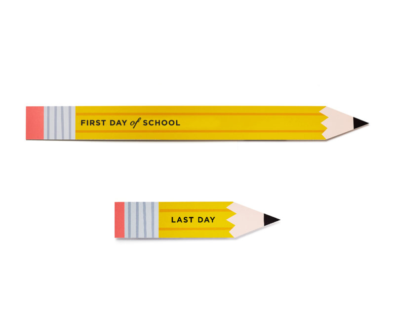 first and last day pencils