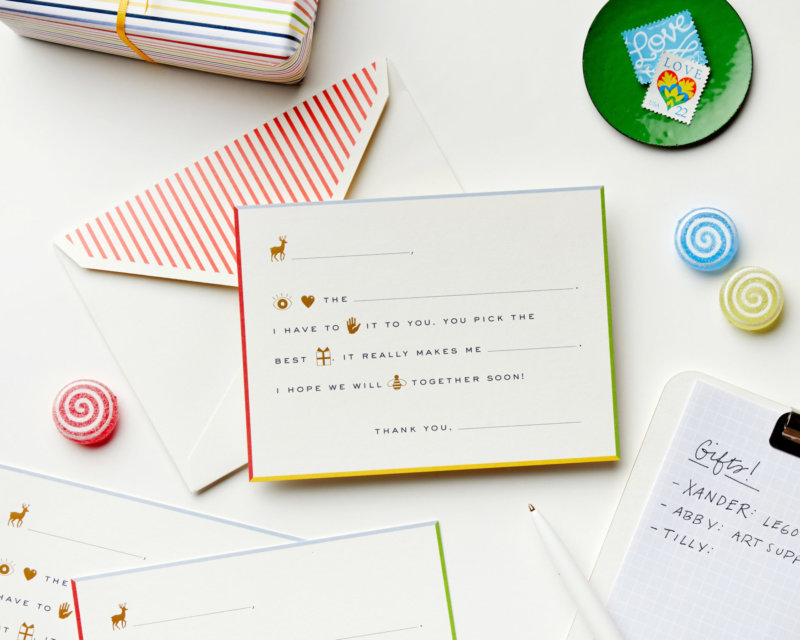rebus thank you notes boxed stationery